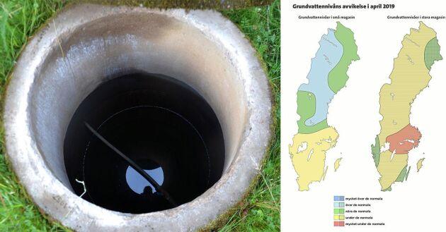 Grundvatten april månad.