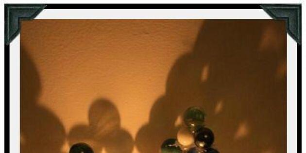 Gör din egna ljuslykta av glaskulor och cdskiva