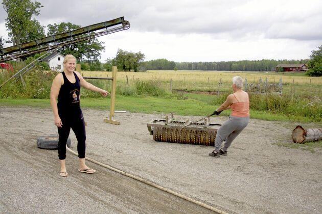 330 kilo ringvält är inga problem för Gunilla Berglind.