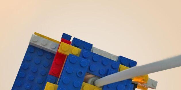 Gör en legolampa av adventsstjärnan!