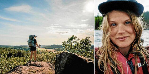 Linda vandrade genom alla Sveriges landskap på fyra månader