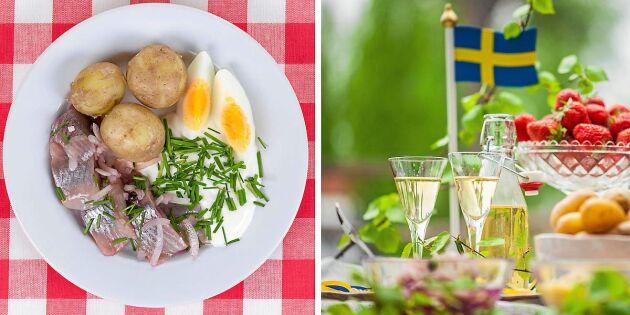Svensk midsommarmat bäst för klimatet
