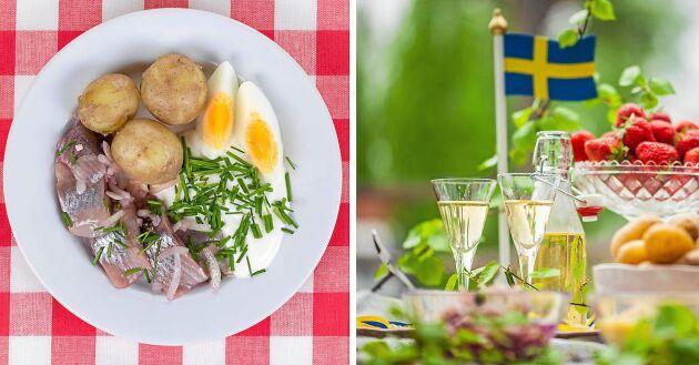Svensk mat på midsommarbuffén minskar klimatpåverkan mätbart.