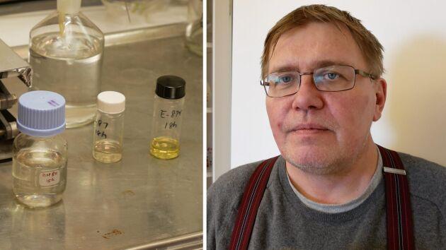Jyri-Pekka Mikkola är professor vid kemiska institutionen vid Umeå universitet och har i de senaste tio åren jobbat med biodrivmedel i hemlighet.