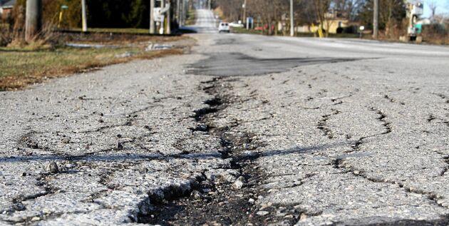Här är de sämsta vägarna i Sverige. Motormännen har kartlagt hela Sveriges vägnät.