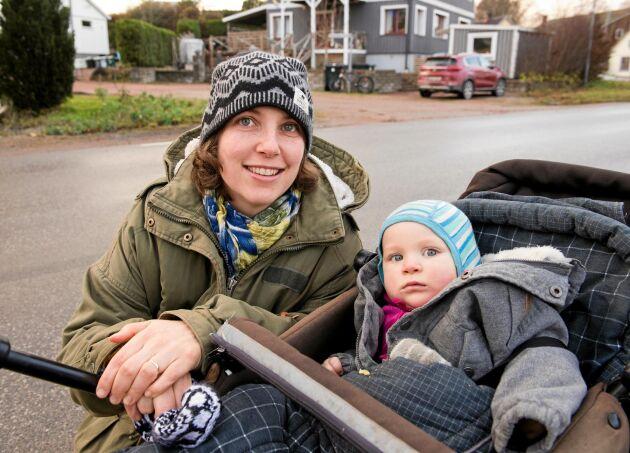 Sophia Lundberg med sonen Ebbe.