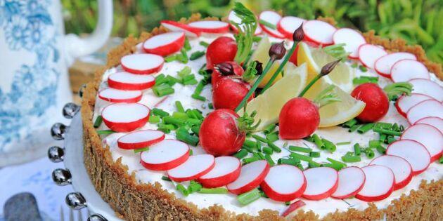 Lyxig laxcheesecake med äpple – fantastiskt god