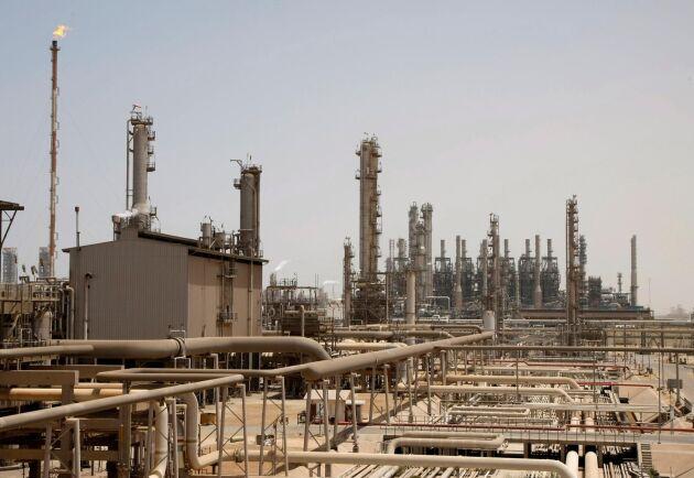 En oljeanläggning i Jubeil, Saudiarabien. Arkivbild.