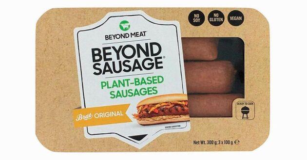 Beyond Meats korvar gjorda av ärtprotein.