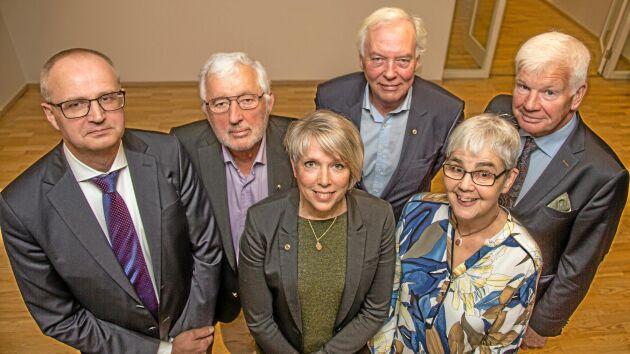 LRFs 100-årsjubileum. LRF-ordföranden: Palle Borgström, Bo Dockered, Helena Jonsson, Hans Jonsson, Caroline Trapp, Lars-Göran Pettersson.