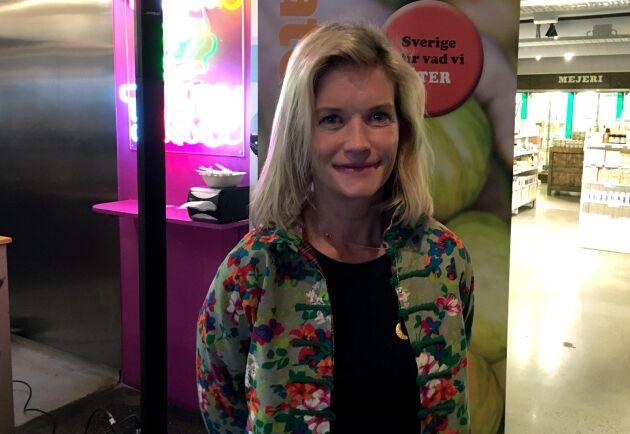 Magdalena Hermelin, som driver Hermelins grönsaker, kommenterade LRFs regeringsförklaring.