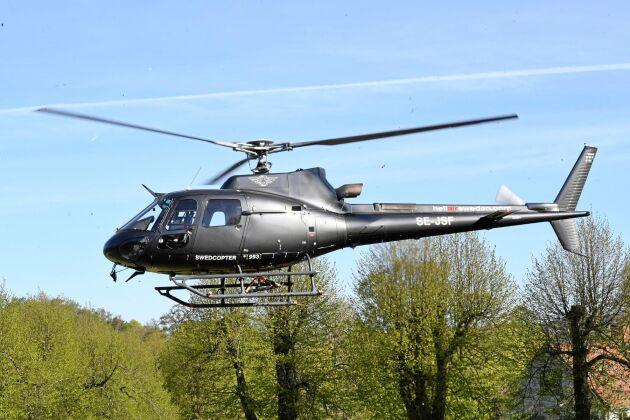 En av de sex helikoptrar som kommer att användas för att släcka skogsbränder i andra EU-länder.