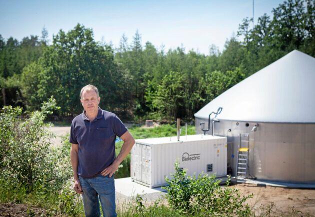 """""""Så länge det finns varaktiga stöd tror jag att fler lantbruk kommer att investera i biogas"""", säger Lars Berggren."""