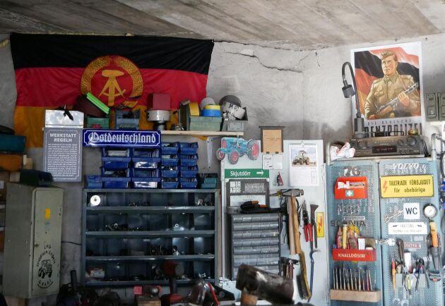 Mycket DDR-nostalgi i verkstaden.