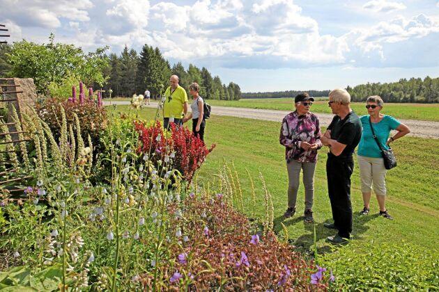 Rabatterna hos Märta Eklund är som provkartor. Här visar hon vilka plantor som passar ihop och ger gästerna förslag för deras egna trädgårdar.