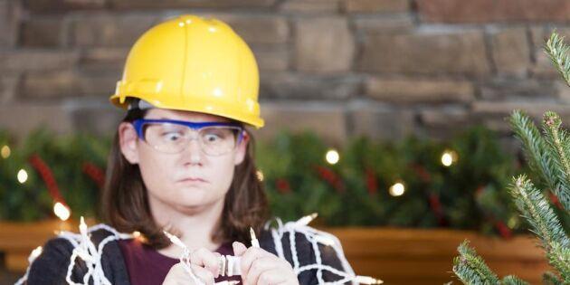 Blås ut, vattna och vakta: Fem tips för en brandsäker jul