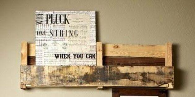 Få upp dina minnen på väggen med hjälp av lastpallar