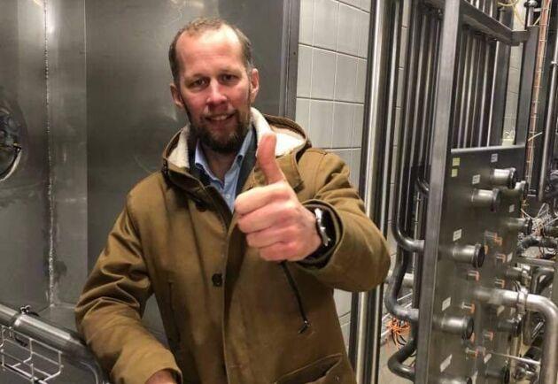 Anders Birgersson, en av grundarna till Glada Bonden som nu har köpt Arlas gamla mejeri av Boxholms kommun.