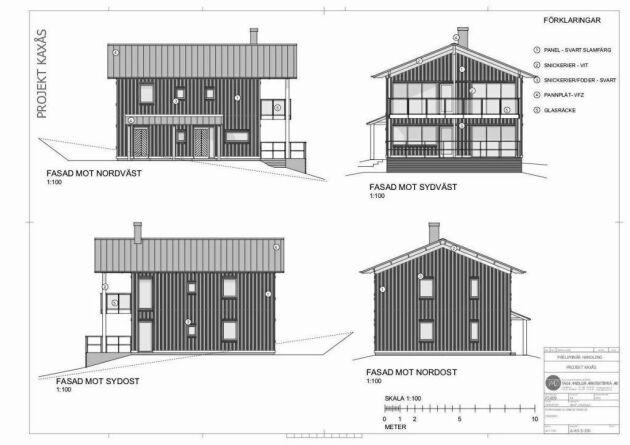 Husen är arkitektritade och byggs av hållbara material.