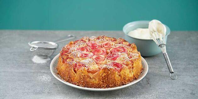 Baka toppengod laktosfri äppelkaka med kvarg