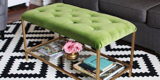 Förvandla ett tråkigt bord till lyxig sittpuff