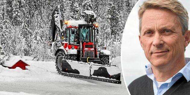 """Trafikverket om snöröjningsdebatten: """"Tidigare har folk hittat egna lösningar"""""""