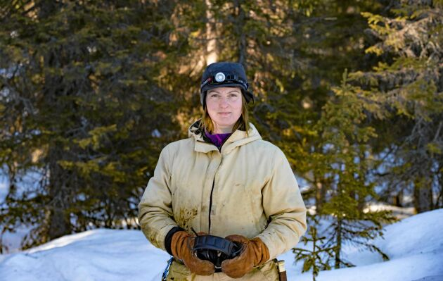 Jenny Viklund älskar sitt liv mitt i den norrbottniska vildmarken.