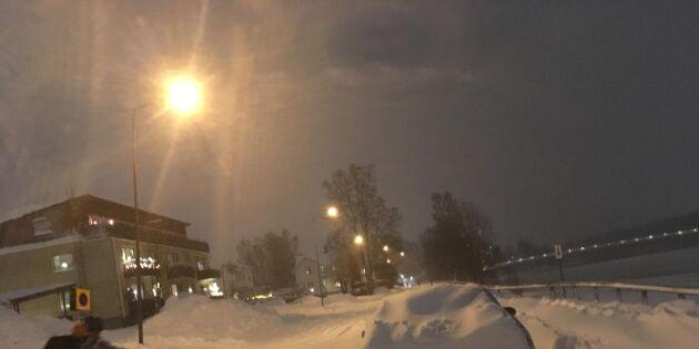 Hårt snöoväder härjar – allmänheten varnas
