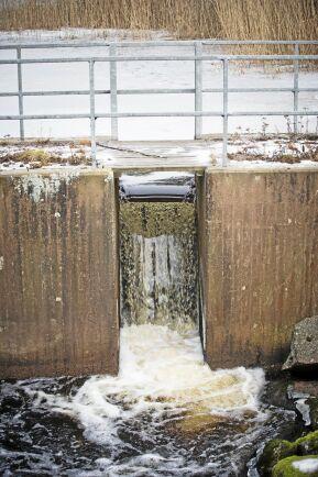 Dammen med dess utskov ser modern ut eftersom den renoverades på 1970-talet men den fanns på plats redan när en masugn byggdes 1683. När masugnen upphörde 1876 ersattes den av en såg som drevs fram till 1962.