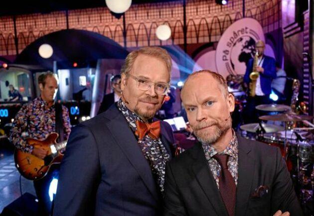 """""""På spåret"""" 2019 med Fredrik Lindström och Kristian Luuk."""