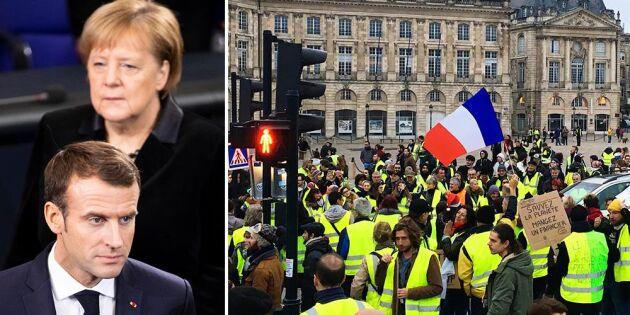 Fransk Capvändning efter protester