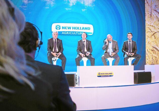 Redskapsfokus. Under New Hollands presskonferens på Eima kretsade det mesta runt köpet av Kongskilde.