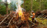 Brandutbildning för frivilliga i Kalix