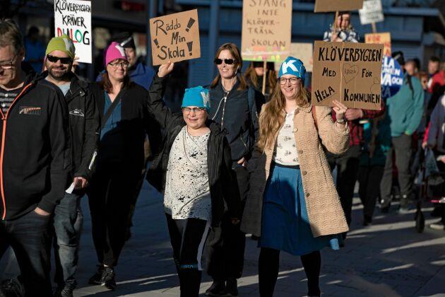 Budskapen var många och kritiken hård vid protesterna.