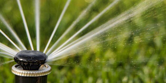 Lågt grundvatten på många håll i landet