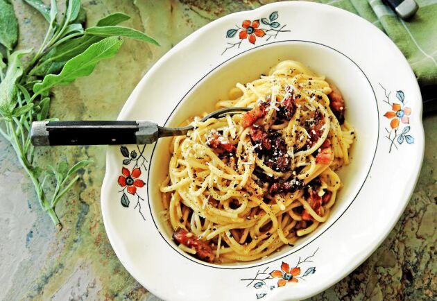Spaghetti carbonara är en älskad klassiker.