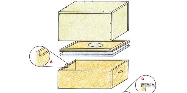 Bygg din egen bikupa! Här får du en supersmart ritning