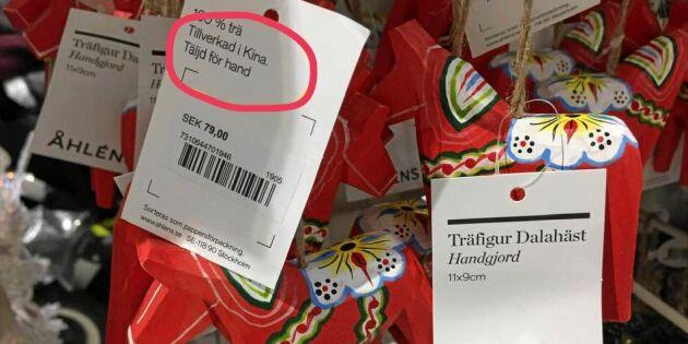 Svenska varuhuset säljer dalahästar – tillverkade i Kina