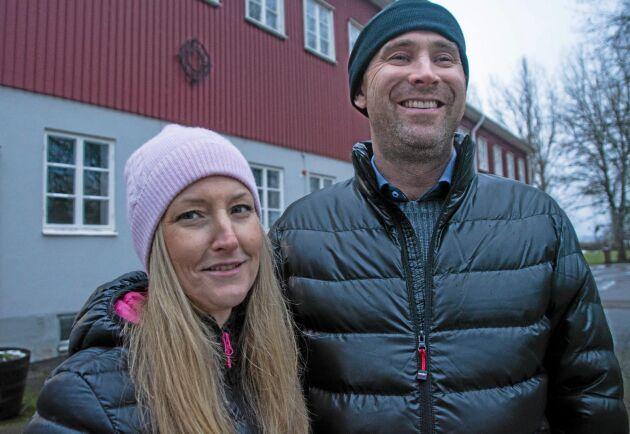 Lantbruksföretagarna Anna och Richard Johansson.