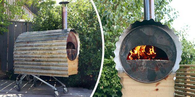 Så bygger du en egen pizzaugn på hjul