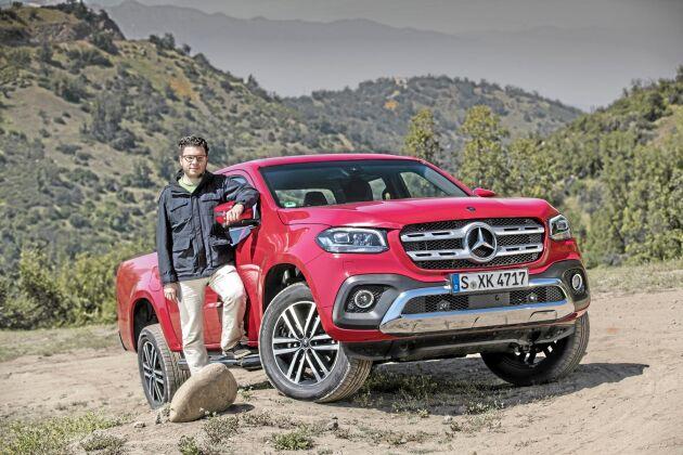 ATL:s Anders Helgesson testkör Mercedes första pickup.
