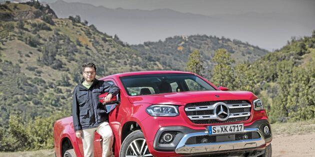 ATL provkör Mercedes första pickup
