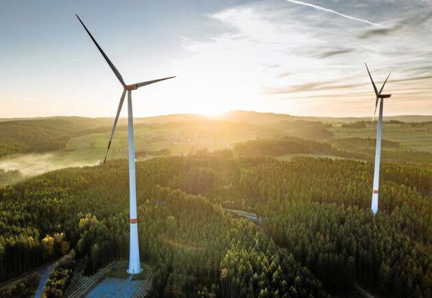 Höjderna kring Käymäjärvi har valts som plats för en 58 gigantiska vindkraftverk. Bilden är dock inte därifrån eftersom vindkraftsparken ännu inte är verklighet.