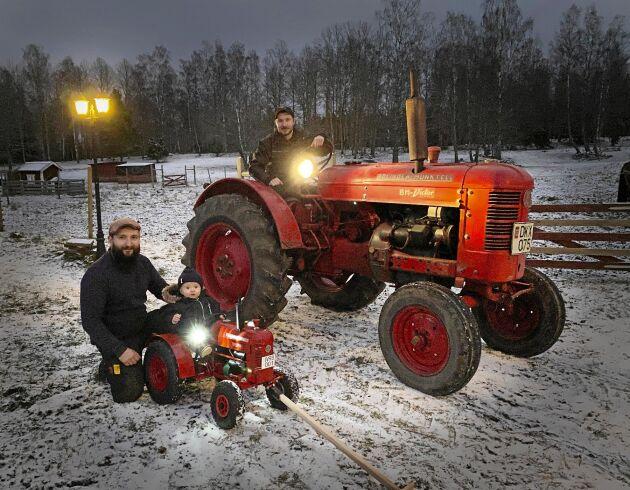 Walters traktor har till och med fungerande strålkastare.