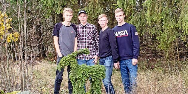Succé för klimatvänliga julbockar från egen skog