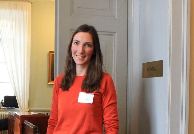 Som doktorand gör Maria Karlsson många olika uppdrag. Till exempel att vara med och anordna seminarium på Kungliga skogs- och lantbruksakademin, KSLA.