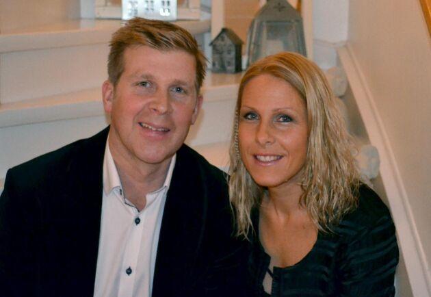 Kjell Nilsson och Jenny Andersson, Årets fårföretagare 2018.