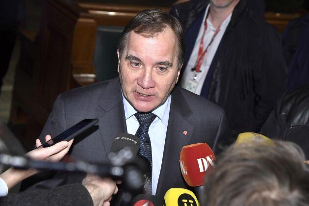 Stefan Löfven (S) kan ha en uppgörelse klar med L, MP och C om regeringsfrågan. Arkivbild.