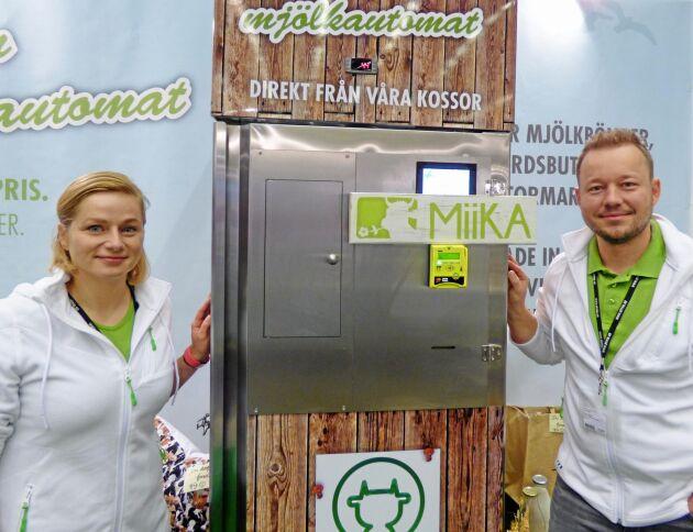 Annika Leeb och Felix Meyer driver företaget Miika, som bland annat säljer Ristos mjölkautomater i Skandinavien.
