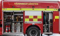 Två skadade i brand i ladugård